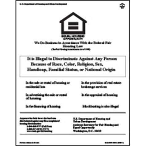 printable equal employment opportunity poster equal housing opportunity hud v2 digital print mfblouin
