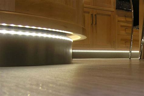 kitchen plinth lighting in kettering kitchen showroom