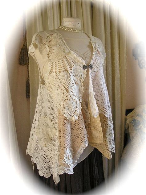 handmade doily vest crochet doily dress cover lagenlook