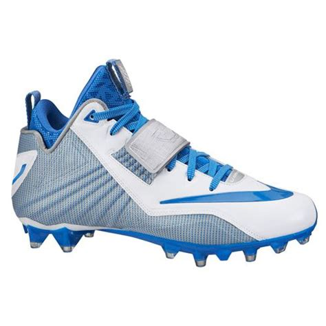 blue and white football cleats
