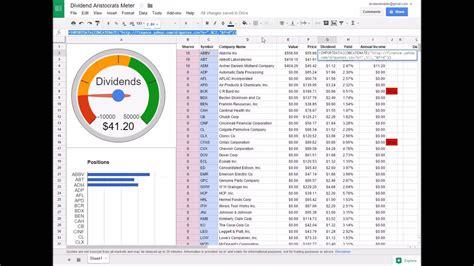 build  dividend tracker spreadsheet youtube