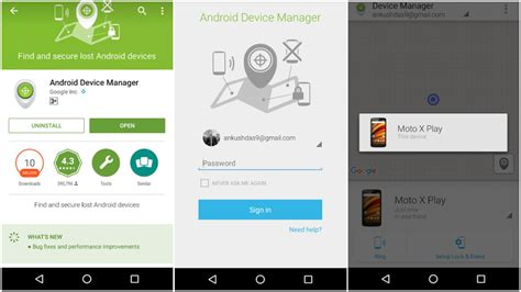 android devicemanager how to use android device manager to locate or wipe your phone