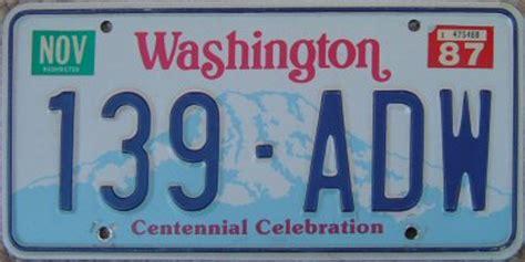 entropy washington state license plates