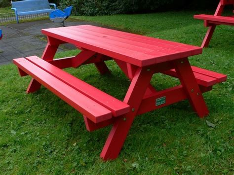 plastic benches uk derwent recycled plastic junior picnic table bench trade