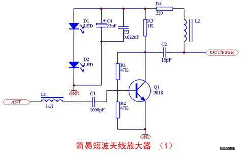 circuit amplificateur dantenne  ondes courtes simple