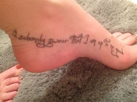 i solemnly swear tattoo harry potter inspired quot i solemnly swear that i am