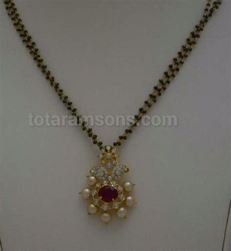 black necklace designs india black with diamonds pendant black