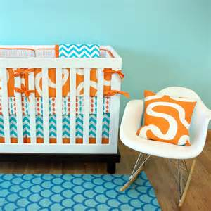 Orange And Turquoise Crib Bedding Total Fab Blue And Orange Nursery Crib Sets Bedding For Baby And Boys