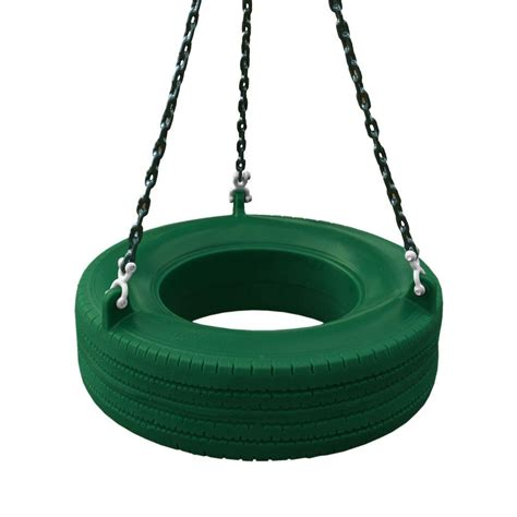 tire swing home depot gorilla playsets 360 194 176 green turbo tire swing shop your