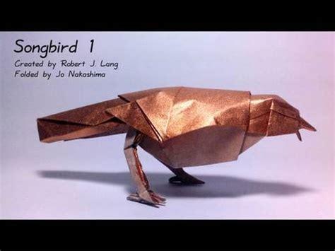 Origami Song - origami songbird 1 robert j lang