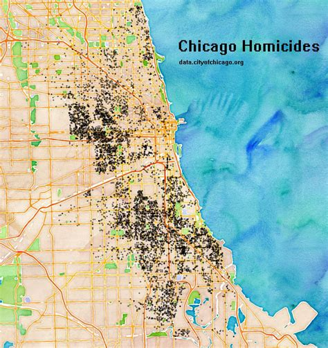 chicago homicide map chicago gun related incident visualizations 2008 2016