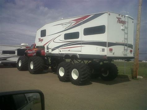 Custom Camper and Monster Truck   Mobile Homes   Pinterest   Trucks, Monster trucks and Trailers