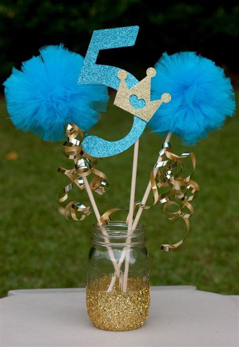 princess centerpiece table decoration teal and gold