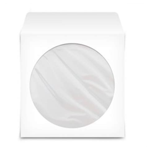 funda cd papel funda de papel para cd dvd de 12 cm 100 unidades blanco