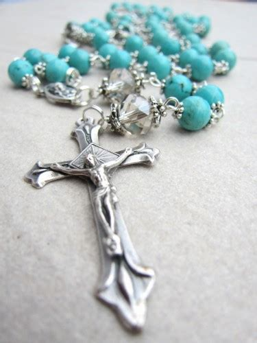 Handmade Rosary Necklace - amykcollections on artfire