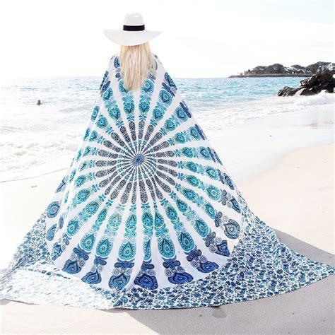 Sun And Moon Duvet Cover White Amp Blue Floral Indian Mandala Dorm Amp Bedroom Hippie