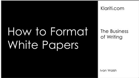 how to write a white paper format tutorial white papers 14 writing guidelines