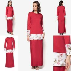 Murah Midi Dress baju kurung lace peplum and peplum on