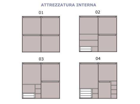 attrezzatura interna armadio armadio scorrevole 2 ante plany