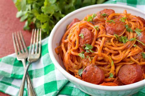 pasta sausage paleo spicy sausage pasta plaid paleo