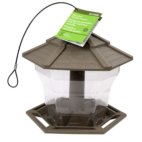 Plastic Bird Feeders shop cedarworks plastic hopper bird feeder at lowes