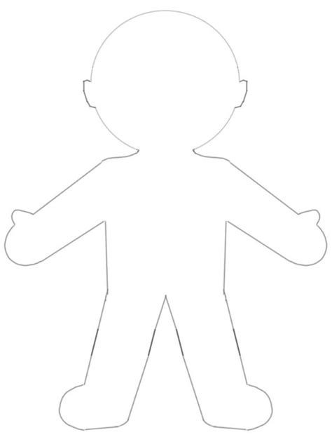 blank paper doll template busy happy