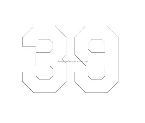 printable jersey number stencils free jersey printable 39 number stencil