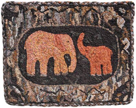 Elephant Rug Kit by Hooked Rug Kits
