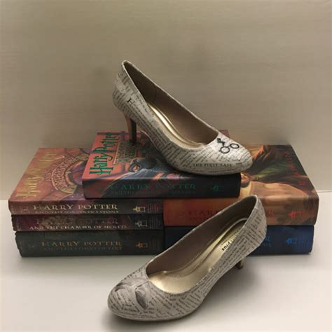 high heel themed harry potter themed book page high heel shoes
