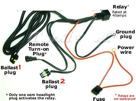 hid kit wire relay harness harness