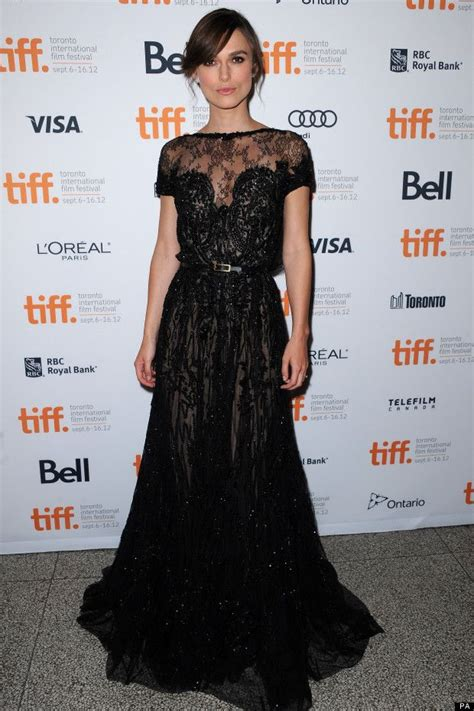 keira knightley in an saab dress black lace my style festivals