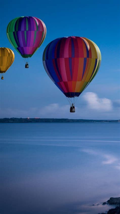 wallpaper hot air balloons lighthouse coast hd