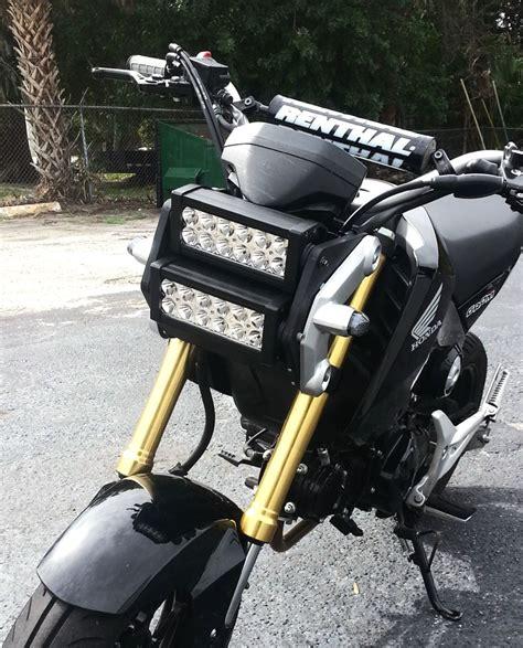 led light bar headlight honda grom msx 125 led light bar headlight