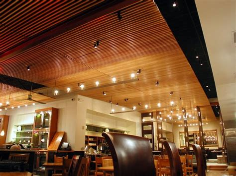 Wood Ceiling Finishes Straits Cafe Santana Row Wood Ceilings And Walls Finish