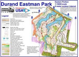 eastman map durand eastman park east august 8th 2013 orienteering