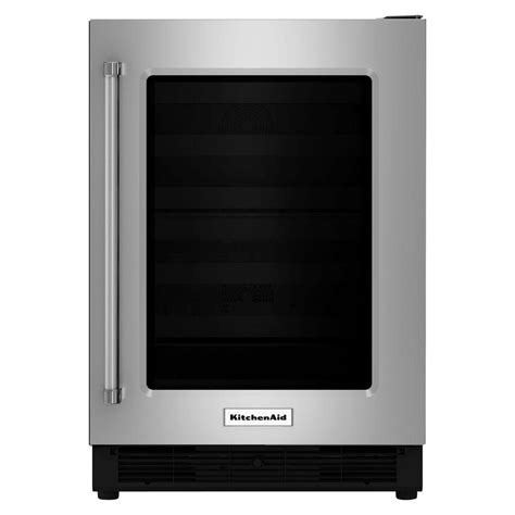 kitchenaid 24 in w 5 1 cu ft undercounter refrigerator