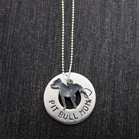 sted pit bull supporter necklace w pit bull charm
