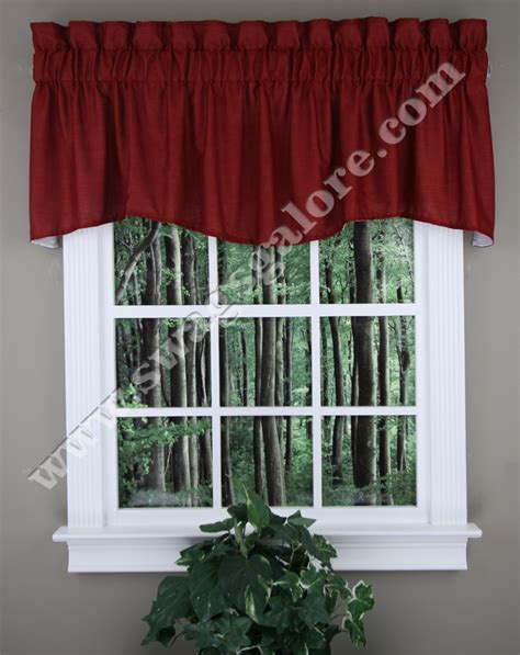 Burgundy Kitchen Valances Emery Lined Quot M Quot Curtain Valance Burgundy Renaissance