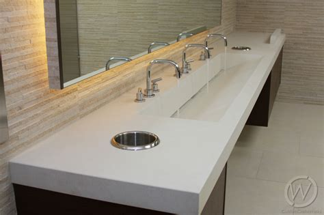 Washroom Countertops concrete restroom sinks in california customcretewerks inc