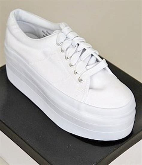 new jmr platform sneakers womens shoes white size 6 5