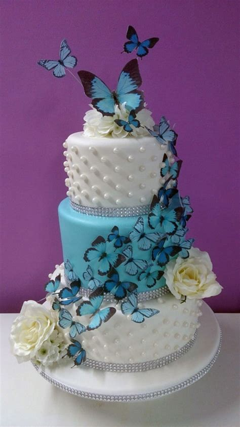 Butterfly Wedding Cake by 3 Tier Butterfly Wedding Cake Cake By Hayley S