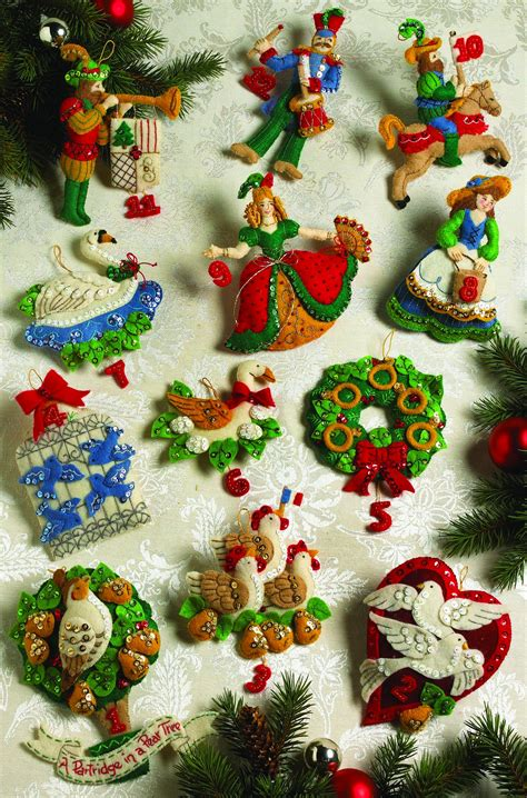 how to make 12 days of christmas ornaments partridge in a pear tree bucilla ornaments 12 days of