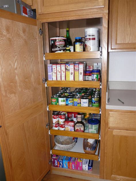 Kitchen Pantry Shelf Ideas by Kitchen Pantry Cabinet Pull Out Shelf Storage Sliding Shelves