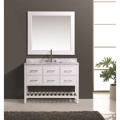 Where To Buy Bathroom Vanities Design Element 48 Quot Vanity Set With Open Bottom White Free Shipping Modern Bathroom