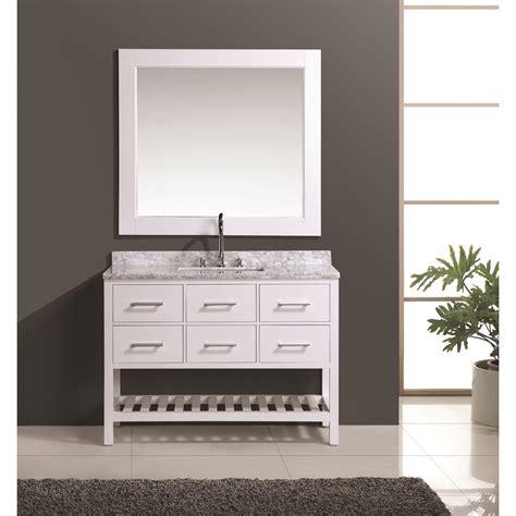 bathroom vanity bottom design element london 48 quot vanity set with open bottom
