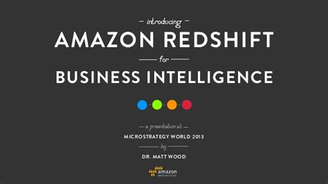 amazon redshift amazon redshift for business intelligence
