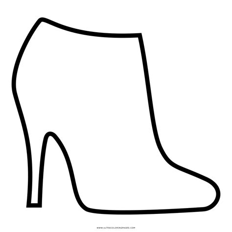 imagenes para dibujar zapatos dibujo de tacones altos para colorear ultra coloring pages