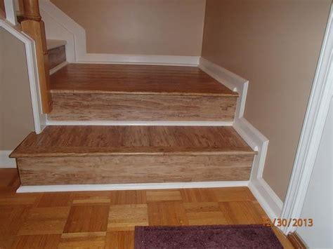 laminate stair case  white quarter  accents
