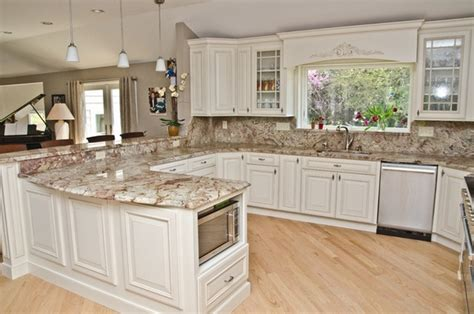 White Kitchen Cabinets Countertop Ideas Typhoon Bordeaux Granite Countertops Best Kitchen Countertop Ideas