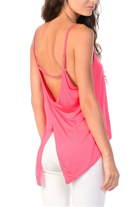 Back Slide Dress open back spaghetti crossing design solid